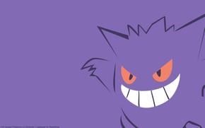 Picture purple, eyes, smile, mouth, eyes, smile, poison, pokemon, pokemon, violet, Ghost, smile, poisonous, mouth, Gengar, …