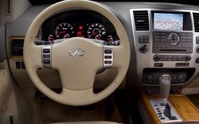 Picture the wheel, Infiniti, salon, dashboard, QX56