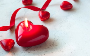 Picture candles, red, love, heart, romantic, candle, valentine`s day