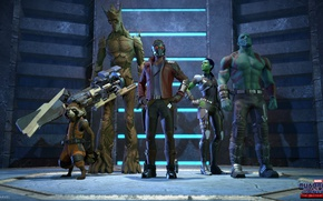Picture gun, game, weapon, Marvel, mask, Rocket raccoon, Guardians Of The Galaxy, Marvel's Guardians Of The …