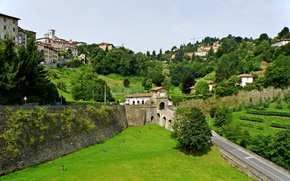 Picture Nature, Home, Field, The city, Panorama, Italy, Building, Italy, Italia, Panorama, Field, Town