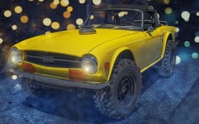 Picture yellow, Triumph, Monster Jacked Up, TR6