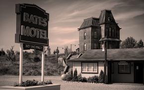 Picture cinema, 1960, movie, fear, film, Bates Motel, terror, Psycho, motel