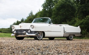 Wallpaper Eldorado, Cadillac, white, 1954, convertible