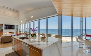 Picture interior, kitchen, New York, living room, dining room, Sands Point