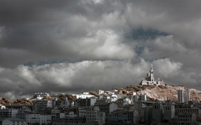 Picture clouds, France, home, panorama, Marseille