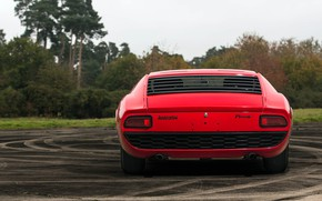 Picture Red, Auto, Lamborghini, Retro, Machine, 1969, Car, Supercar, Miura, Lamborghini Miura, Italian, P400, Body, P400 ...