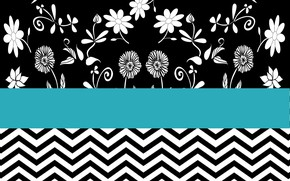Picture flowers, background, pattern, texture, turquoise background