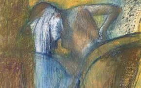 Picture picture, genre, Edgar Degas, Edgar Degas, The Woman Dries The Hair