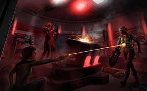 Picture ray, shot, Android, Assimilation, Star Trek Adventures