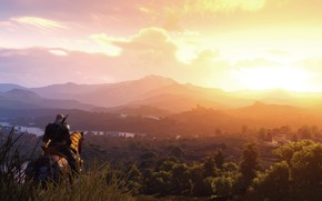 Picture landscape, rider, The Witcher 3, Blood & Wine