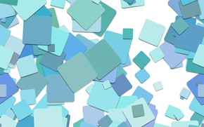 Picture abstraction, squares, abstract, geometry, blue, background, squares, geometry
