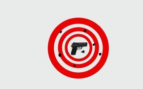 Picture target, background, gun