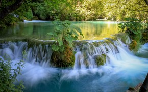 Picture water, nature, waterfall, beauty, plants, Croatia, Plitvice lakes