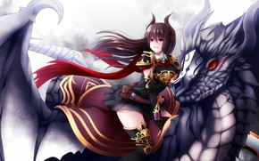 Picture girl, game, anime, dragon, japanese, Granblue Fantasy, Granblue Fantasy: The Animation