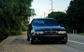 Wallpaper Black, E39, BMW