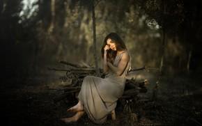 Wallpaper girl, nature, mood, Laulights