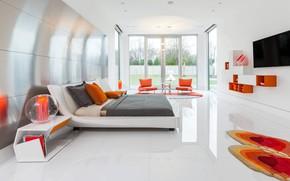 Picture room, interior, bedroom, Dallas Dwelling