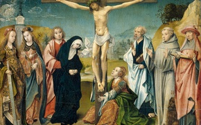 Picture picture, mythology, Cornelis, Engelbrechtsen, Christ on the Cross