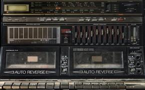 Wallpaper radio, kazetnik, Sharp