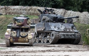 Picture weapons, tanks, demonstration performance