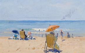 Picture sea, beach, picture, Elioth Gruner, Tamarama Beach, Elliot Gruner