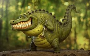 Wallpaper artist, trumpeter, Louis, art, Tyler Bolyard, pipe, crocodile, crocodile