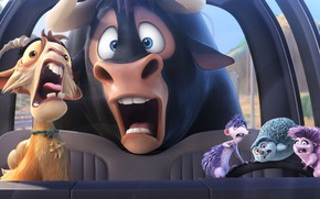 Picture bull, animated film, Ferdinand, goat, animated movie, car porcupine