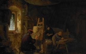 Picture tree, oil, picture, Adriaen van Ostade, The Artist's Studio
