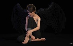 Picture girl, night, angel