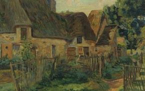 Picture village, impressionism, picture, Landscape of the Ile-de-France, house, Armand Guillaumin, Arman Hyomin