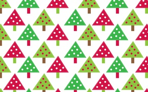 Picture abstraction, tree, holiday, pattern, paint, toys, tree, New Year