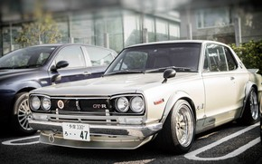 Picture Auto, White, Machine, Nissan, Nissan, Lights, Car, 2000, Skyline, Nissan Skyline, The front, 2000GT, Japanese, …
