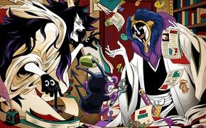 Picture sword, game, Bleach, One Piece, anime, crossover, ken, blade, manga, shinigami, shikai, scientist, Punk Hazard, …