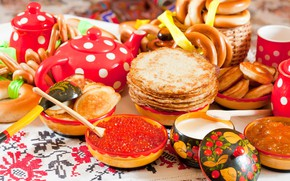 Picture Caviar, Delicious, Pancakes, Carnival