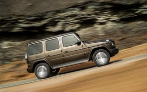 Picture road, rock, movement, Mercedes-Benz, speed, 2018, G-Class