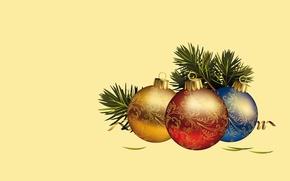 Wallpaper balls, holiday, balls, minimalism, vector, art, New year
