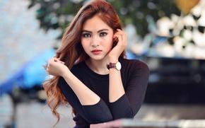 Picture look, model, hair, watch, Asian, Yasmin Basalamah