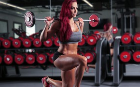 Picture legs, mirror, workout, fitness, gym, Squats with weight, pelirata