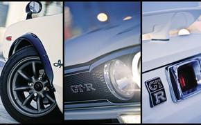 Picture Auto, White, Disk, Machine, Wheel, Nissan, Collage, Nissan, Lights, Car, 2000, Skyline, Nissan Skyline, The …