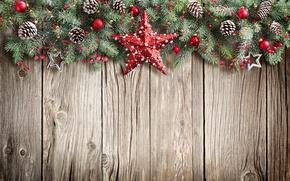 Wallpaper christmas, xmas, Christmas, wood, balls, star, fir tree, merry christmas, New Year, decoration