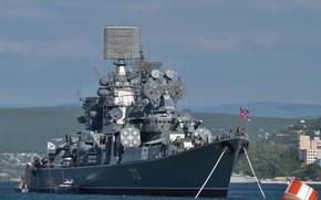 Picture ship, large, anti-submarine, Kerch, The Black Sea Fleet, project 1134-B