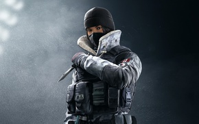 Picture game, Frost, soldier, Rainbow Six, knife, Tom Clancy's Rainbow Six Siege, Rainbow Six Siege