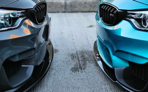 Picture BMW, Blue, Gray, F80, Sight, Versus