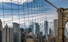 Picture New York, Manhattan, Brooklyn Bridge