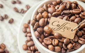 Picture coffee, grain, Cup, coffee beans