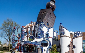 Picture Germany, Bayern, Abensberg, beer tower of Hundertwasser