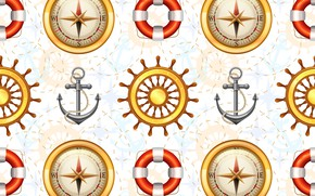 Picture figure, Texture, compass, Anchor
