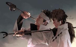 Picture brothers, Naruto, art, Indra Ootsutsuki, by zyop111, Ashura Ootsutsuki