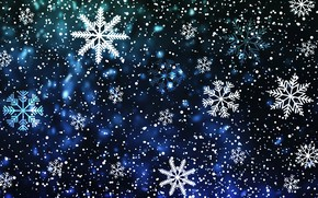 Picture Winter, Minimalism, Snow, Christmas, Snowflakes, Background, New year